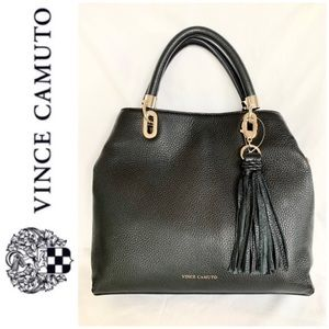 NWT Vince Camuto genuine pebble leather satchel